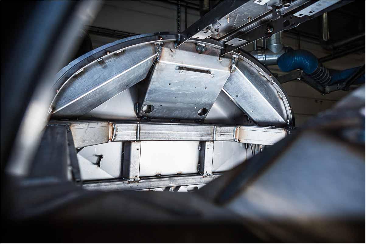 speciale i fotografering Odense af store industrimaskiner af stål