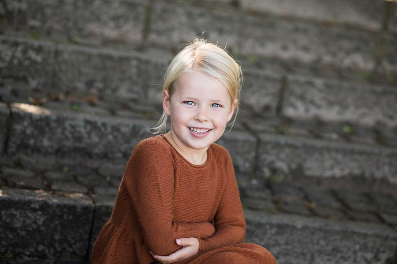 Professionel familie og børnefotograf